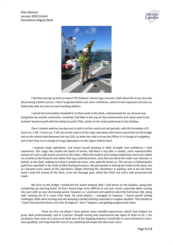 Elle's regular news letter | Institute of Chartered Shipbrokers