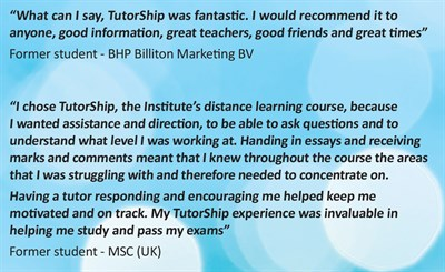 2017 Tutorship leaflet - quotes about TS