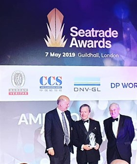 Institute President Lord Moutevans receives Seatrade Award 7 May 2019